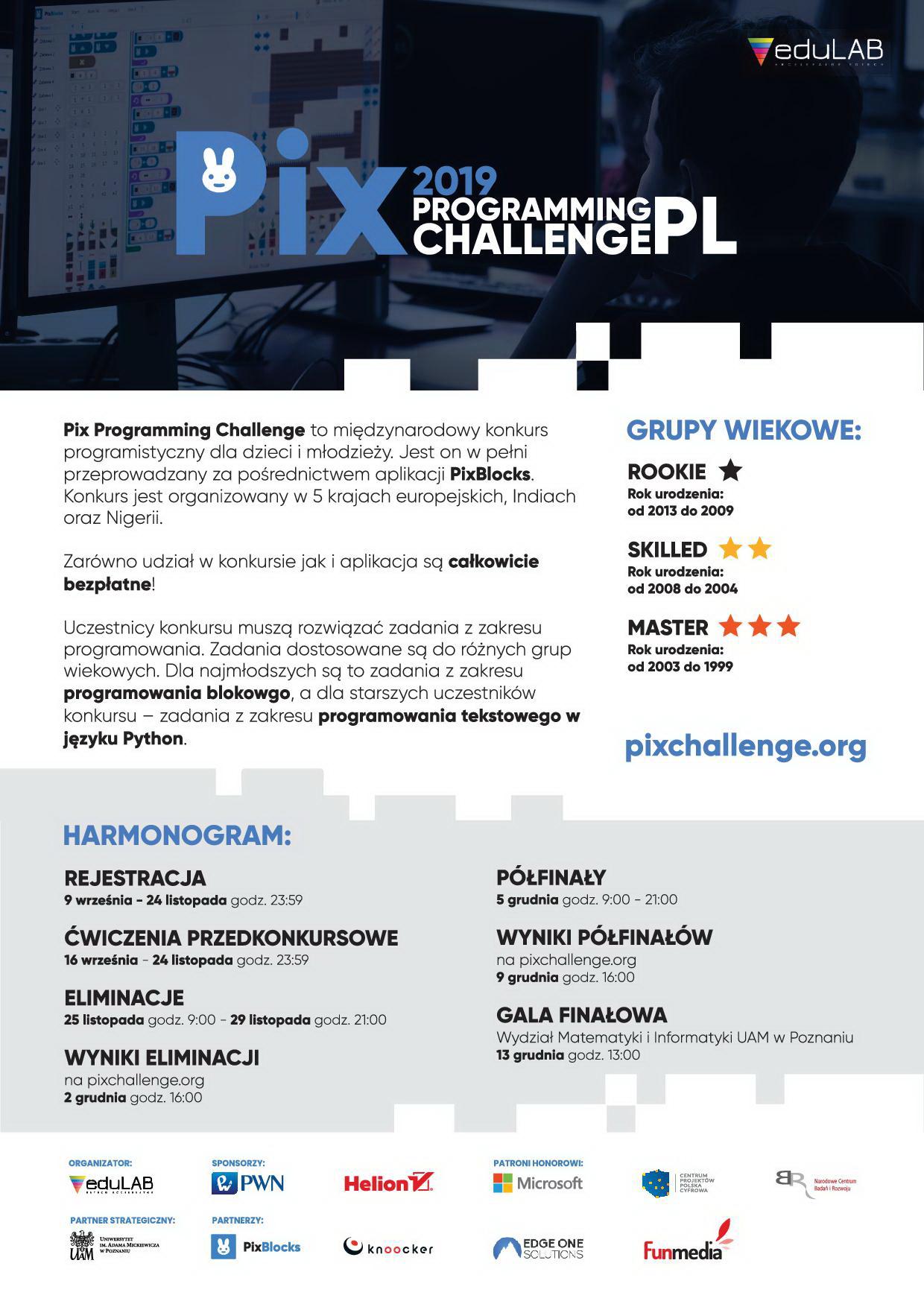 "Konkurs programistyczny ""Pix Programming Challenge""."